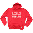 Running Hoodie Hoody Funny Novelty hooded Top - Im Only Half Crazy