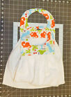 2 Towel Bibs With Dinosaurs Special Needs Drool Baby Toddler Snap Closure