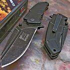 MTECH Xtreme Black Stone Washed Spring Assisted Open HEAVY DUTY Tactical Knife!!