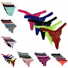 Lot 5 Women Bikini Panties Brief Floral Lace Cotton Underwear Size M L XL(#C216)