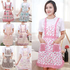 Women Floral Muti-color Anti-oil Cooking Kitchen Restaurant Apron Pocket Gifts