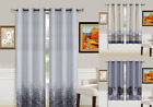 "1 Pair Bronze Grommet Lined Room Darkening Blackout Window Curtain Set 63"" 84"""