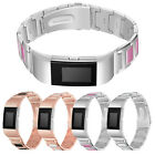 StrapsCo Stainless Steel & Ceramic Link Band Bracelet Strap for Fitbit Charge 2