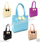 Ladies Brand New Designer Bow Tote Zip Shopper Beach Picnic Icon Large Bag