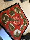 "Vintage Paris France Souvenir Scarf,Roger Lahmy Made In Italy,31"" poly"