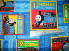 Thomas tank train engine & friends cotton quilting fabric *cut pieces