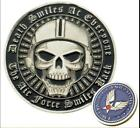 US Military Air Force Challenge Coin USAF Collectible Death smiles at everyone