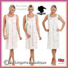 LADIES FLORAL JERSEY COTTON SLEEVELESS NIGHTDRESS BY LADY OLGA, Size 10/24