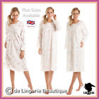 LADIES SOFT COTTON FLORAL LONG SLEEVE NIGHTDRESS BY LADY OLGA, Size 10-36