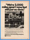 1976 Bell Telephone African American Black Boy and Dad on Steps 2,000 Miles Ad