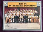 1985-6 Pittsburgh Penuins Vintage Team Issued 8.5x11 Team Photo Lemieux Rookie