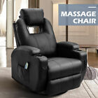 Electric Massage Chair Recliner Sofa Leather Vibrating Heated Ergonomic w Remote