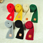 Внешний вид - Fashion Children Knitted Scarf Thicken Winter Warm Kids Boys Girls Neck Scarves