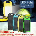5000mah Dual 2 USB Solar Power Bank Box Battery Instance DIY For Cell Phone Charger