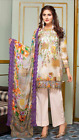 KHAADI MARIA.B Maria B INDIAN PAKISTANI Designer inspired Purple Embroidered 3pc