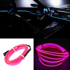 3/5M LED Car Interior Atmosphere EL Wire Neon String Strip Lights Rope Tube Lamp
