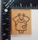 Azadi Earles Angel Doll Rubber Stamp F953