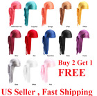 "US Seller PREMIUM SILKY SATIN DURAG MEN'S CAP DOO RAG HDUP""PICK ONE"""