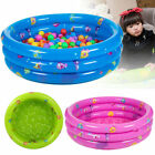 80Cm 3 Ring Inflatable Round Swimming Pool Toddler Children Kids Outdoor Play Ba