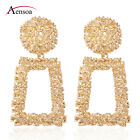 New Women Gold Silver Geometric Statement Drop Dangle Earrings Wedding Jewelry image