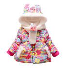 Warm Coat Snowsuit Parkas Jacket Thicken Outwear Overcoat 1-5Y Girls Toddler