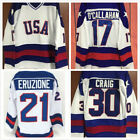OCallahan 17 Eruzione 21 Craig 30 1980 Miracle on Ice Team USA Hockey Jersey