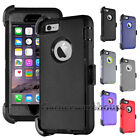 Heavy Duty Hard Case For iPhone 6S 7 8 Plus With Kickstand Belt Clip Holder+Film