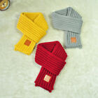 Внешний вид - Winter Scarf Kids Solid Color Knitted Scarves Winter Warm Scarf for Boys Girls