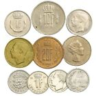 MIXED LOT 10 LUXEMBOUG COINS CENTIMES FRANCS COLLECTIBLE COINS GRAND DUKE JEAN