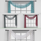 """S38 1 SINGLE SCARF VALANCE TOPPER WINDOW CURTAIN VOILE SHEER 37"""" X 216"""" LONG"""