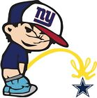 New York Giants Piss On Dallas Cowboys Vinyl Decal CHOOSE SIZES on eBay