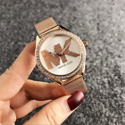 Fashion women men diamond crystal stainless steel wrist quartz watches m // k image