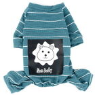 Small Dog Striped Pajamas Lion Print Soft Knitted Jumpsuit Indoor Puppy Clothes