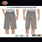 "Dickies Men's 13"" Multi-Pocket Cell Phone Pocket Loose Fit Work Shorts 42283"