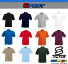 NEW SPURT MEN'S PLAIN POLO T SHIRT COLLARED CASUAL TOP UNIFORM ALL SIZES & COLOR image