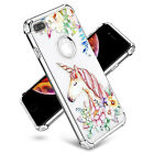 Shockproof Clear Floral Women Girl Case Fits iPhone XS Max XR X / 6 6s 7 8 Plus