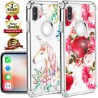 Shockproof Clear Diamond Girl Lady Case Fits In iPhone XS Max/XR/X/6/6s/7/8 Plus