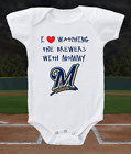 Milwaukee Brewers Onesie Bodysuit Shirt Love Watching With Mommy on Ebay