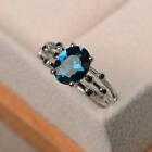 925 Silver Gemstone Birthstone Ring Jewelry Wedding Engagement Wholesale Sz 6-10