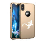 For Apple iPhone X XS Max XR 360° Thin Slim Case + Screen Protector Gecko Lizard