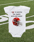 Kansas City Chiefs Onesie Shirt Helmet Design Love to Watch With Dad on eBay