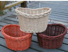 Bicycle Pet Basket Bag Box Front Dog Cat Rattan Wicker Steel Braided Fashion New