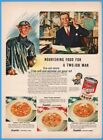 1943 Campbell's Soup US WWII Civil Defense Helmet Chicken Gumbo Scotch Broth Ad