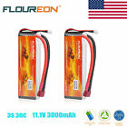 2x 11.1V 3000mAh 3S 30C Li-Po Battery Deans for RC Helicopter Airplane Hobby USA