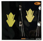 Inlay Stickers Decals Guitar LP Headstock Peghead Vintage Crown (GD) - 2 pcs SET for sale