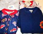 Choice of Carter's boys size 4 Footed Fleece Zip Front Pajamas NWT