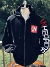 Unheardof Cincinnati Hoodie Jacket Men's Large Black Red Not Allowed To Speak