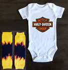Harley Davidson Motors Onesie Bodysuit Shirt Baby Shower Gift $13.95 USD on eBay