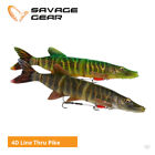 Savage Gear 4D Line Thru Pike Lures - Zander Muskie Predator Fishing Tackle