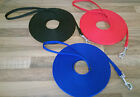 OBEDIENCE TRAINING LEAD/LEASH 5m 10m 15m  HORSE ~DOG QUALITY VERY STRONG WEBBING